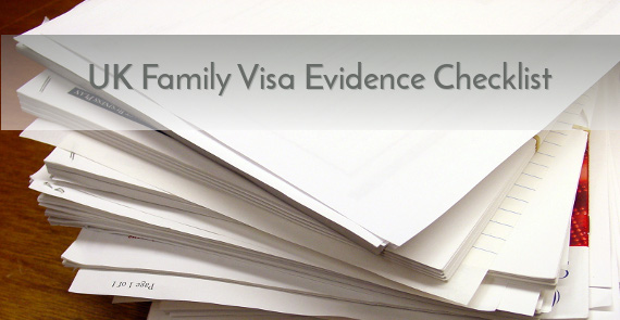 UK Family Visa Financial Evidence List