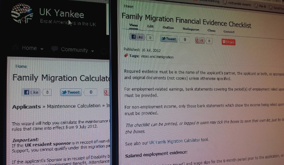 UK Visa and Immigration Calculator and Checklist for Families and Couples